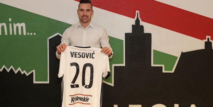 Legia ogłosiła kolejny transfer. Marko Vesović już piłkarzem mistrza Polski