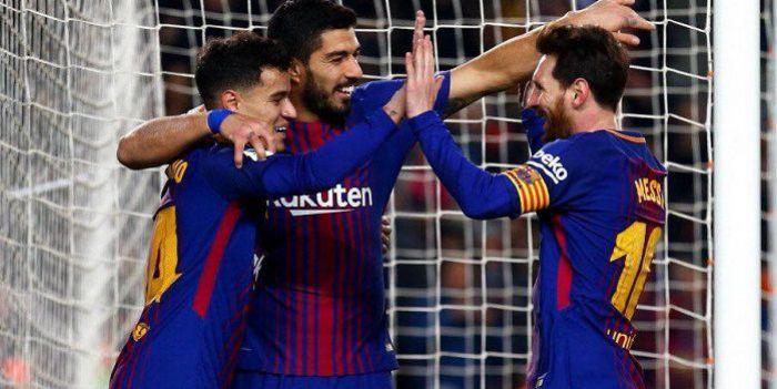 Umtiti podarował gola Gironie, ale Suarez, Messi i Coutinho są jak walec. 6 goli Barcelony