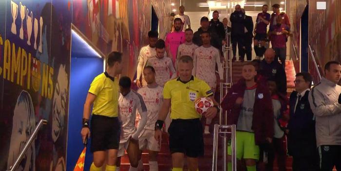 Spięcie w przerwie meczu Barcelona - Liverpool FC. Piłkarze mieli sobie coś do wyjaśnienia