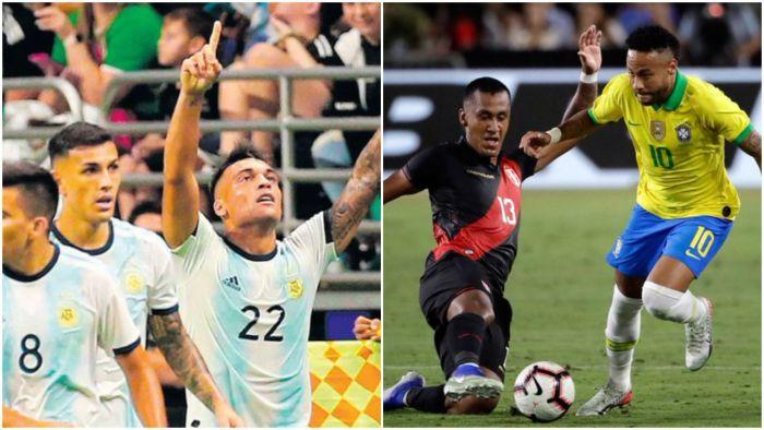 Brazylia przegrała pierwszy raz po 17 meczach, Argentyna rozbiła rywala - 3 gole snajpera (VIDEO)