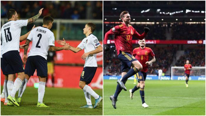 9 goli Włochów! Szwajcaria i Hiszpania też gromią! Dania obroniła w Irlandii przepustkę na Euro 2020!