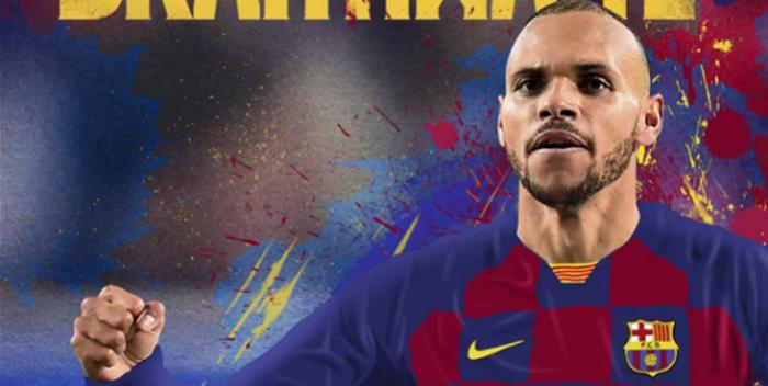 Martin Braithwaite wystawił się na pośmiewisko podczas prezentacji w FC Barcelona. Kibice drwią z napastnika (VIDEO)