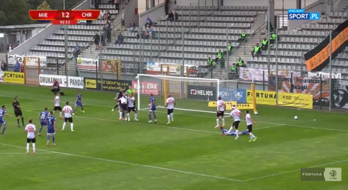 Bramkarz Miedzi Legnica doprowadził do remisu w doliczonym czasie gry