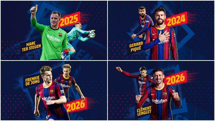 Barcelona z niespodzianką dla kibiców. Czterech ważnych piłkarzy przedłużyło umowy! Wielkie kwoty odstępnego