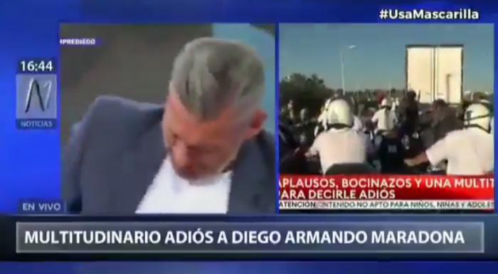 Wicemistrz świata nie mógł powstrzymać rozpaczy na wizji po śmierci Maradony (VIDEO)